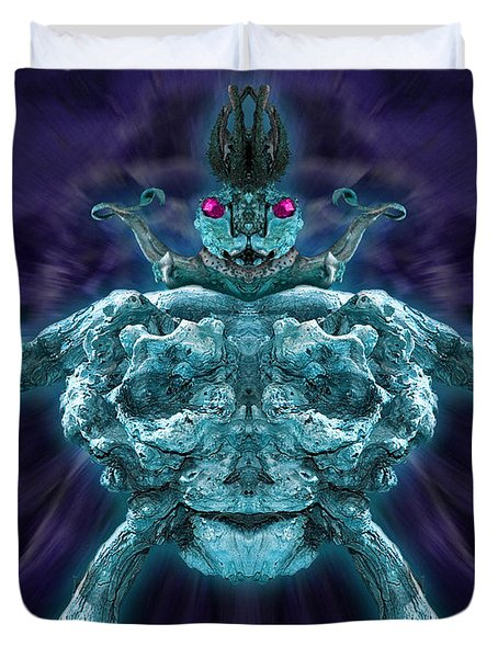 Duvet Cover featuring the photograph Demonwood 2 by WB Johnston