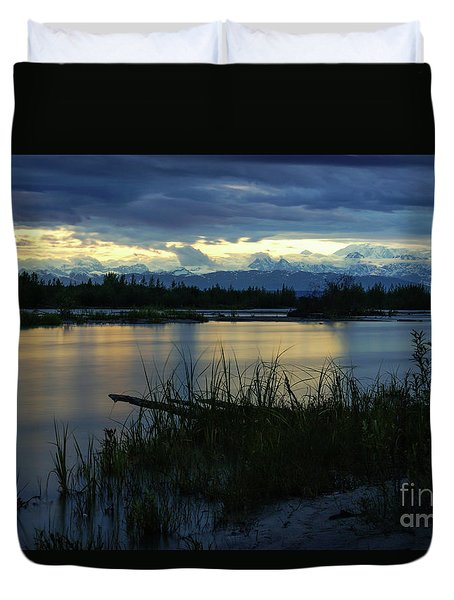 Denali Midnight Sunset Duvet Cover
