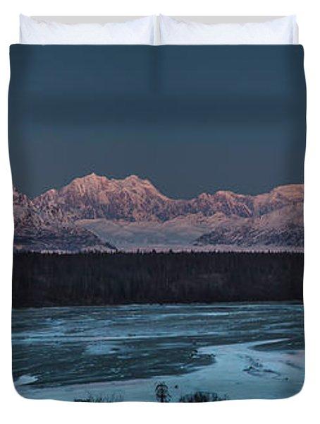 Denali Morning Blue Duvet Cover