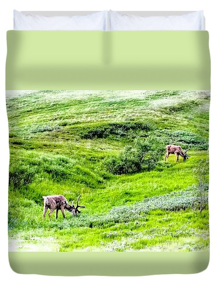 Denali National Park Caribou Duvet Cover