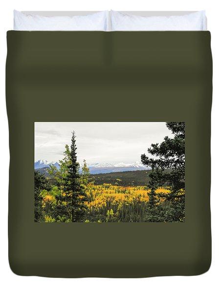 Denali National Park Landscape Duvet Cover