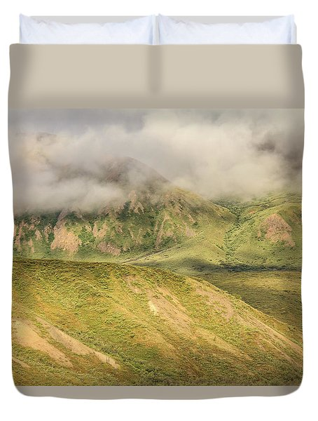 Denali National Park Mountain Under Clouds Duvet Cover