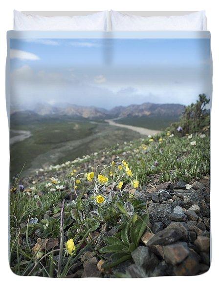 Denali Wildflowers Duvet Cover