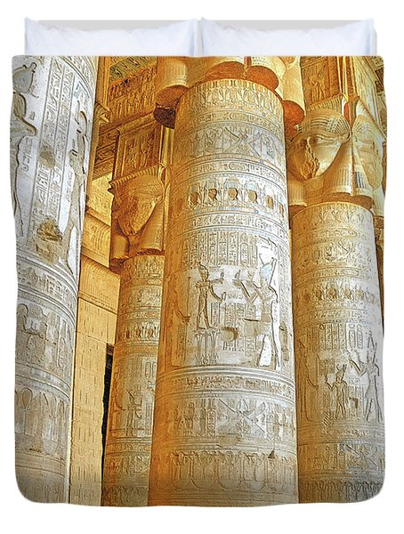 Dendera Temple Duvet Cover