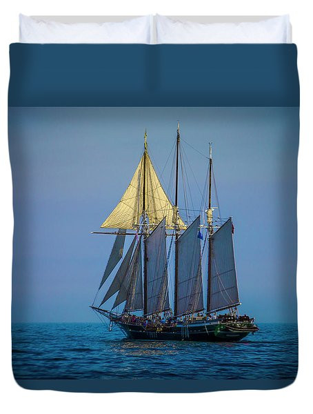 Denis Sullivan - Three Masted Schooner Duvet Cover