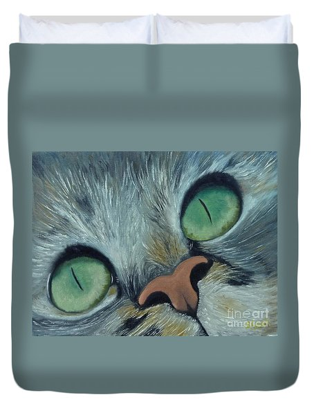 Denise's Cat Jasmine Duvet Cover