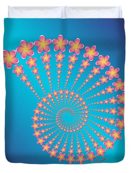 Denise's Frangipani  Spiral Shell Duvet Cover
