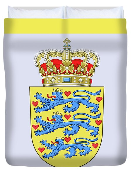 Denmark Coat Of Arms Duvet Cover by Movie Poster Prints