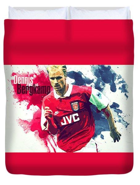 Dennis Bergkamp Duvet Cover by Semih Yurdabak