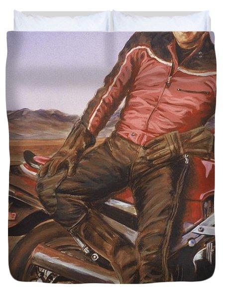 Dennis Hopper Duvet Cover by Bryan Bustard
