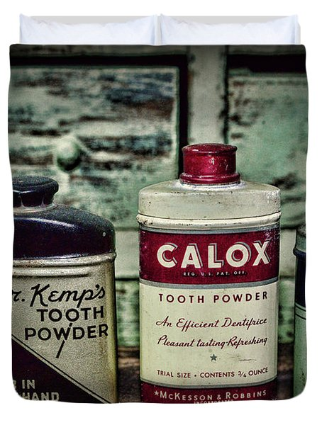 Dentist - Vintage Tooth Powder Duvet Cover
