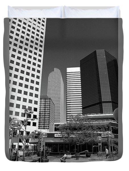 Denver Architecture Bw Duvet Cover by Frank Romeo