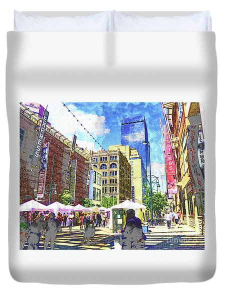 Denver Art Walk Duvet Cover