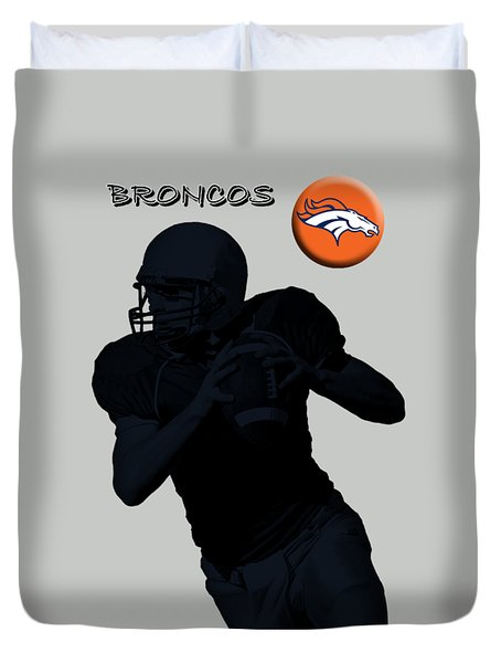Denver Broncos Football Duvet Cover by David Dehner