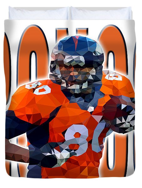 Denver Broncos Duvet Cover by Stephen Younts