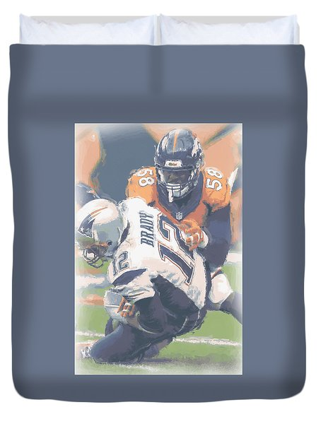 Denver Broncos Von Miller 2 Duvet Cover by Joe Hamilton