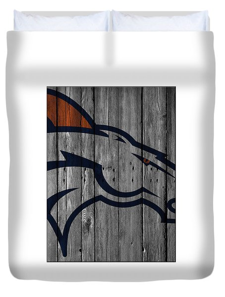 Denver Broncos Wood Fence Duvet Cover