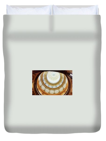 Duvet Cover featuring the photograph Denver Capitol Dome 1 by Marilyn Hunt