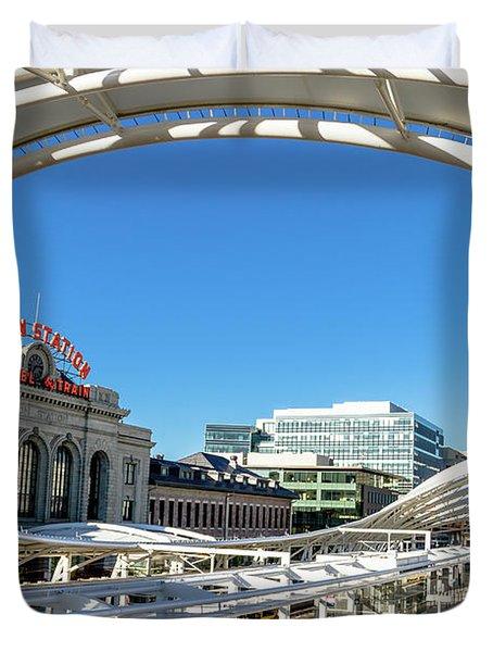 Denver Co Union Station Duvet Cover