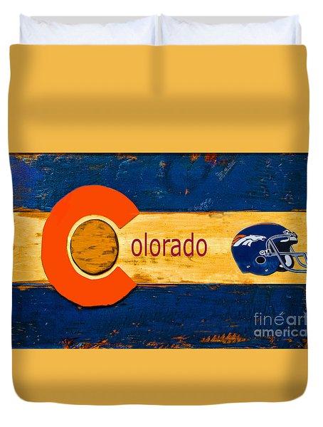 Denver Colorado Broncos 1 Duvet Cover