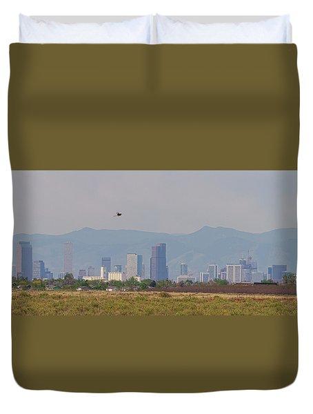 Denver Colorado Pretty Bird Fly By Duvet Cover by James BO Insogna
