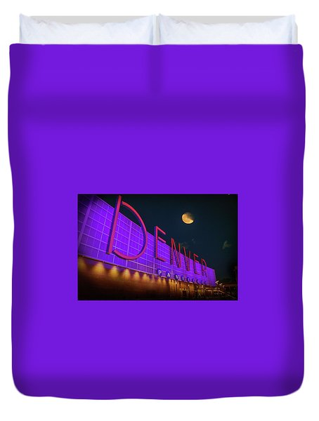 Denver Pavilion At Night Duvet Cover
