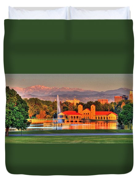 Denver Skyline Duvet Cover by Scott Mahon