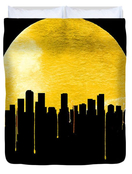 Denver Skyline Yellow Duvet Cover