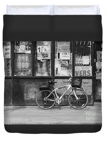 Depanneur Bike Duvet Cover by Reb Frost