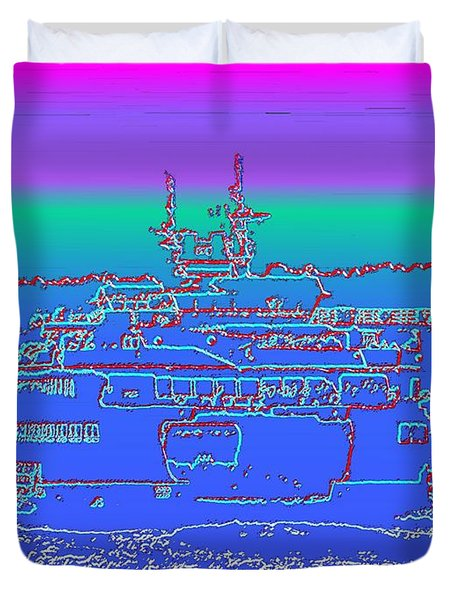 Departing Ferry Duvet Cover by Tim Allen