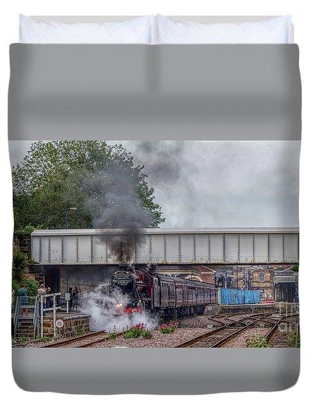 Departing Scarborough Duvet Cover