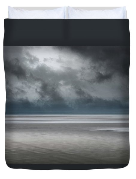 Departing Storm Duvet Cover