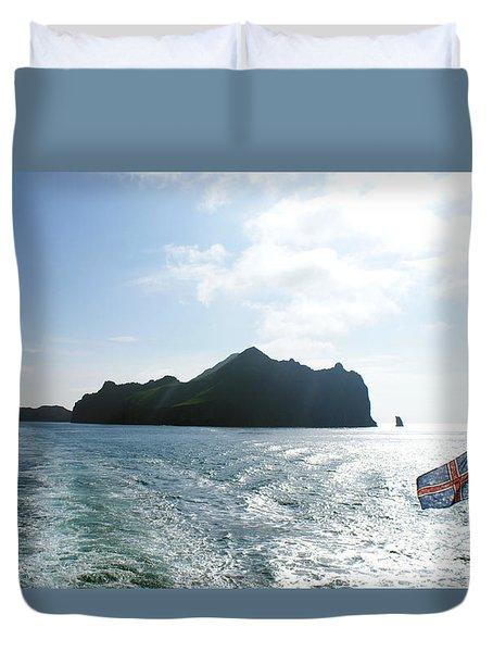 Departing Westman Islands Duvet Cover
