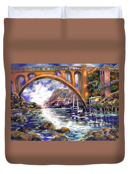 Depoe Bay Bridge Duvet Cover