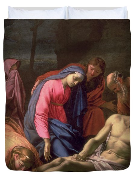 Deposition Duvet Cover by Eustache Le Sueur