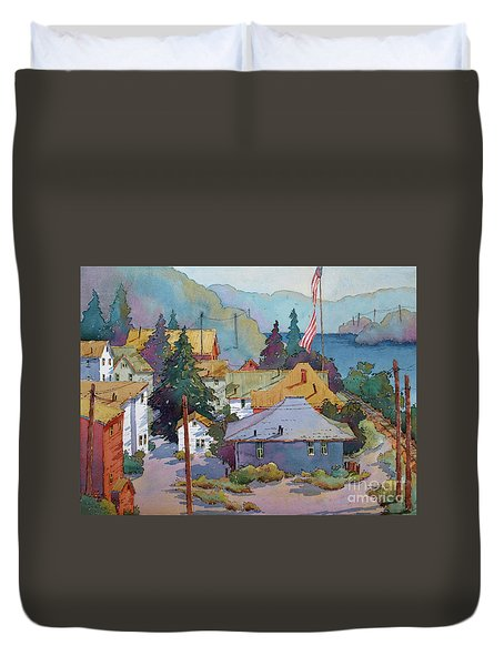 Depot By The River Duvet Cover