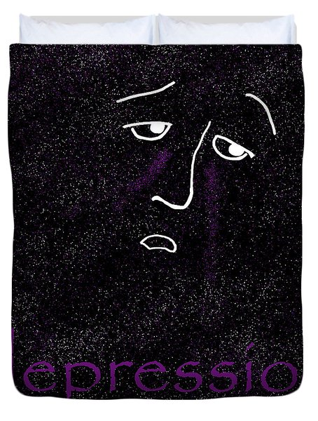 Depression Duvet Cover by Methune Hively