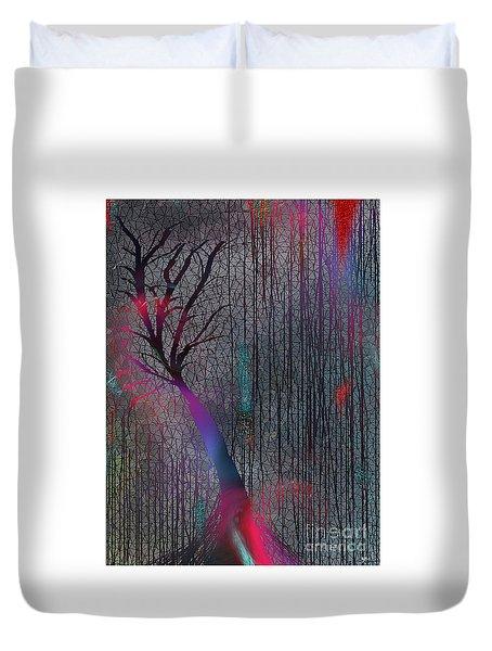 Duvet Cover featuring the digital art Depth Of Dreams by Yul Olaivar