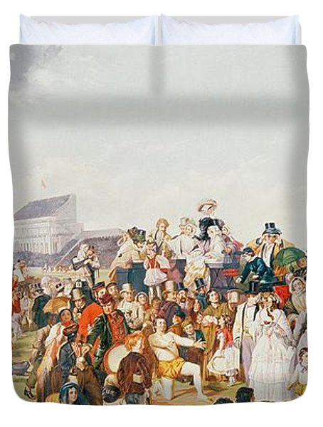 Derby Day Duvet Cover by William Powell Frith