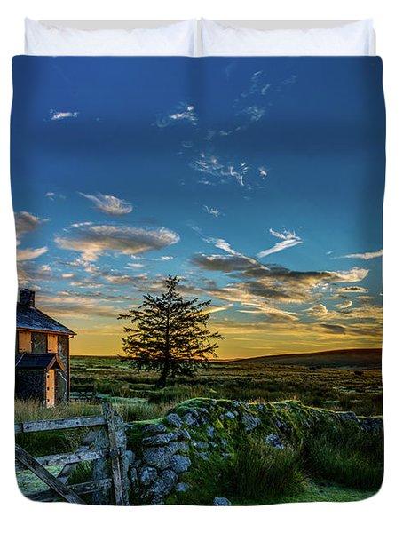 Derelict Cottage Nun's Cross, Dartmoor, Uk. Duvet Cover