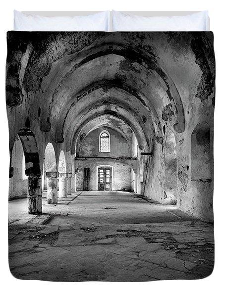 Derelict Cypriot Church. Duvet Cover