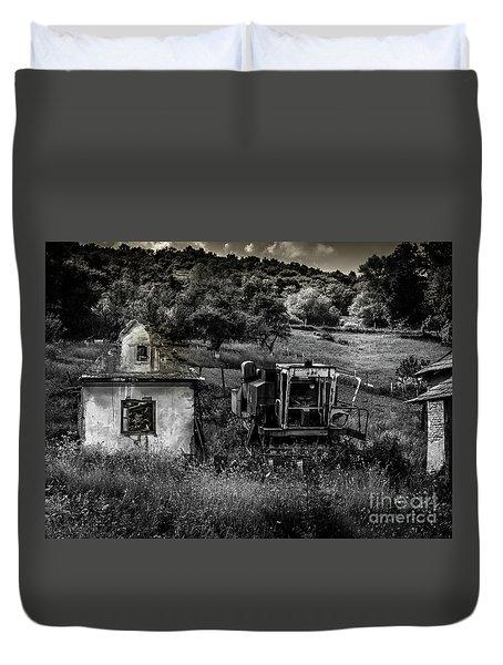 Derelict Farm, Transylvania Duvet Cover