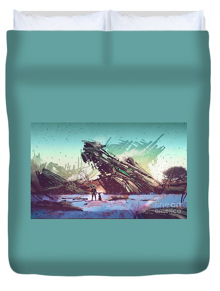 Derelict Ship Duvet Cover
