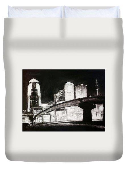 Des Moines Skyline #10 Duvet Cover
