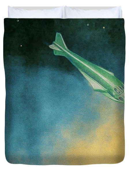 Descent Into Jupiter Duvet Cover