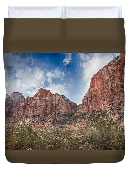 Descent Into Zion Duvet Cover