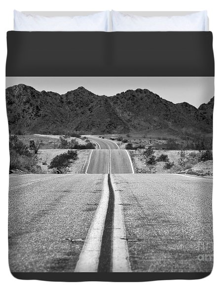 Duvet Cover featuring the photograph Desert Adventure by Suzanne Oesterling