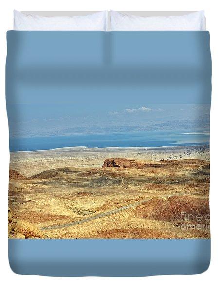Desert And Dead Sea Duvet Cover