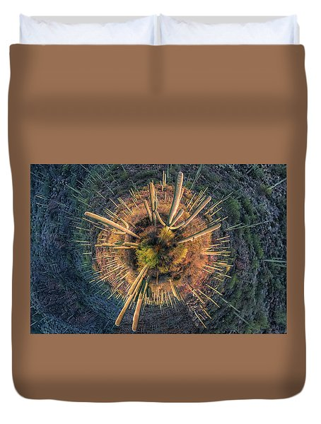 Desert Big Bang Duvet Cover by Lynn Geoffroy