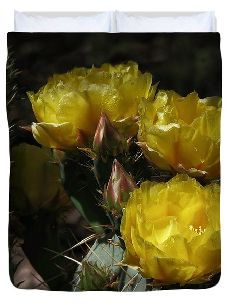 Desert Blooming Duvet Cover